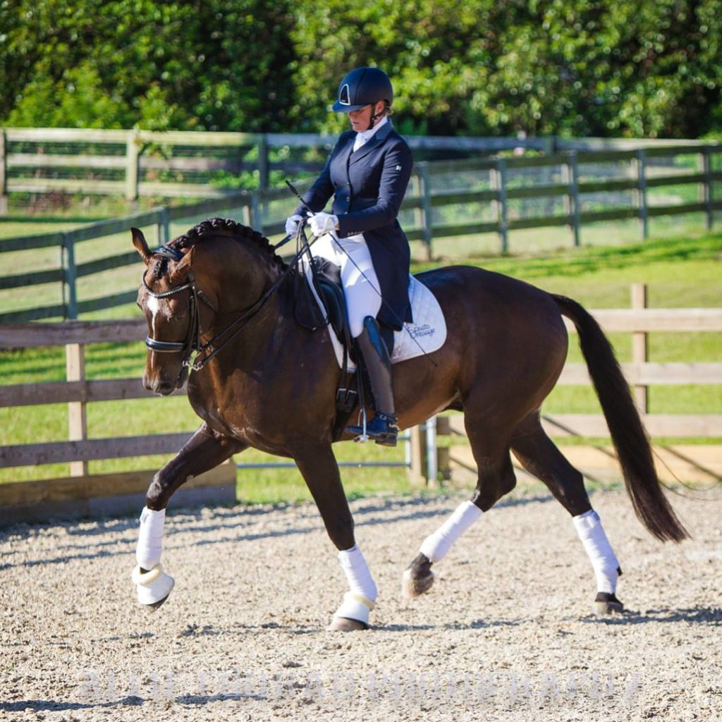 Fie Andersen Sponsored Rider of Dressage Couture Designs
