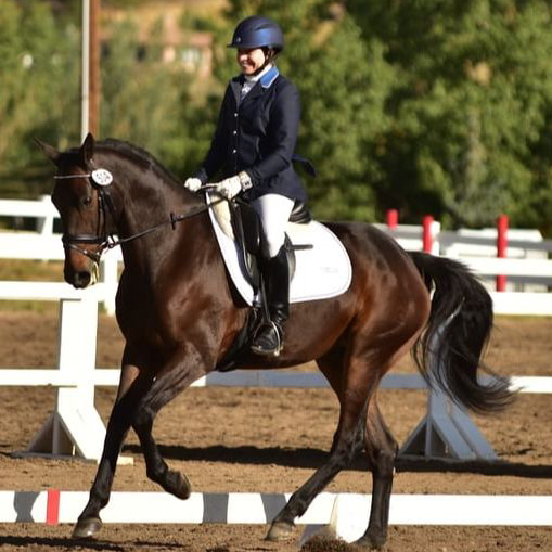 Sara Storch - Sponsored Rider of Dressage Couture Designs