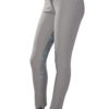 Dressage Couture Designs Active Breech in Grey with Aqua Silicone